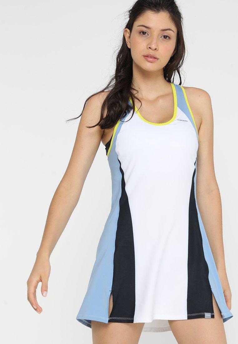 Head - FIONA DRESS - Sports dress - white/yellow