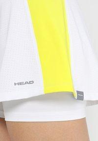 Head - EMMA SKORT  - Falda de deporte - white/yellow - 4