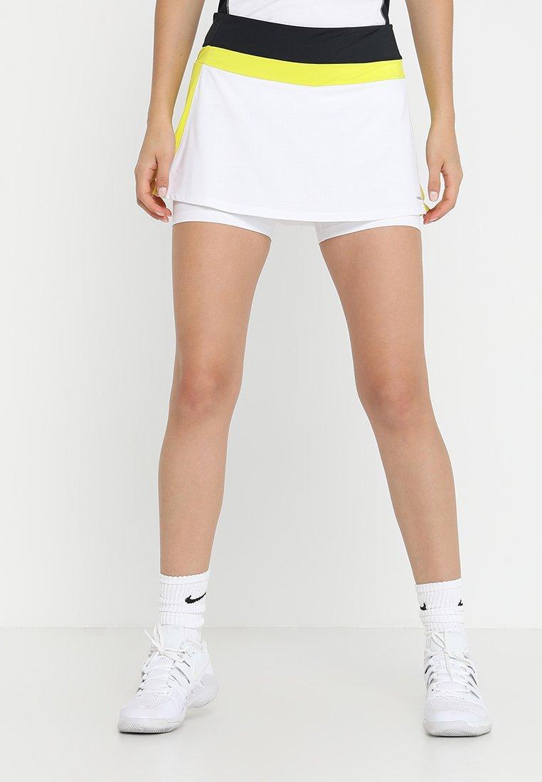 Head - EMMA SKORT  - Falda de deporte - white/yellow