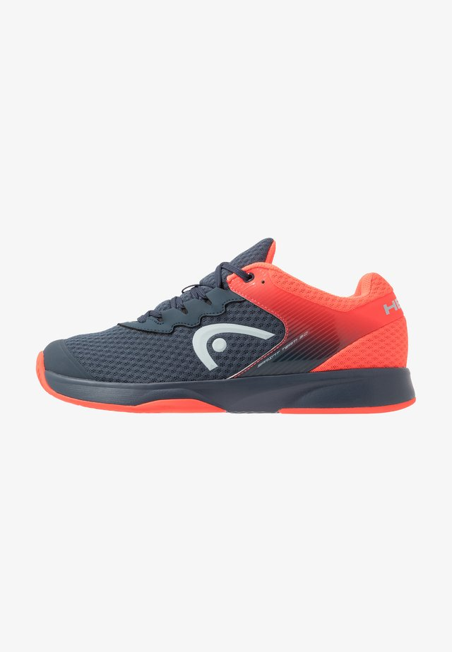 SPRINT TEAM 3.0 - All court tennisskor - midnight navy/neon red