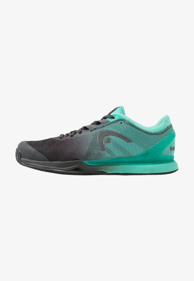 SPRINT PRO 3.0 CLAY - Tennissko til grusbane - black/teal