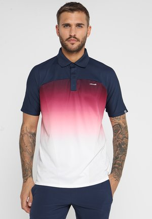 PERF  - Polo - darkblue/hibiscus
