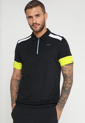 GOLDEN SLAM - Poloshirt - black/yellow