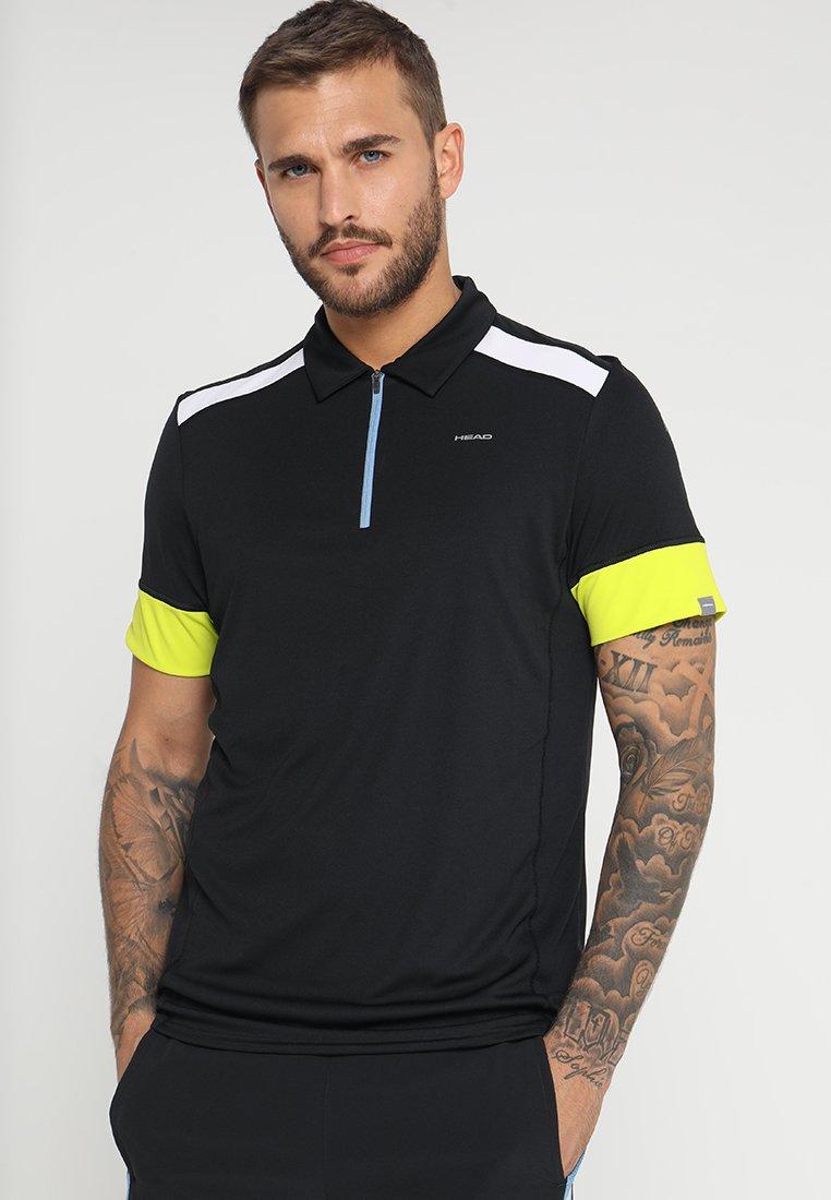 Head - GOLDEN SLAM - Poloshirt - black/yellow