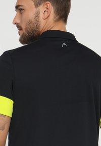 Head - GOLDEN SLAM - Poloshirt - black/yellow - 5