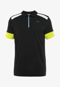 Head - GOLDEN SLAM - Poloshirt - black/yellow - 4