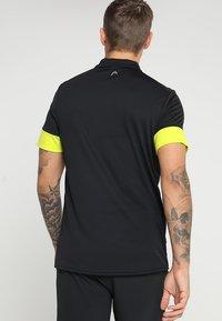 Head - GOLDEN SLAM - Poloshirt - black/yellow - 2