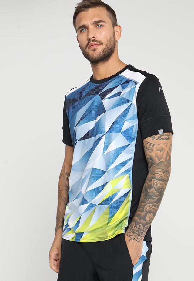 MEDLEY - T-shirt imprimé - sky blue/yellow
