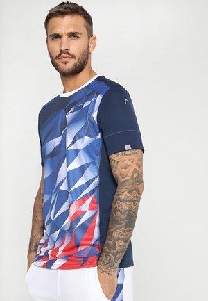 MEDLEY - T-shirt print - royal blue/red