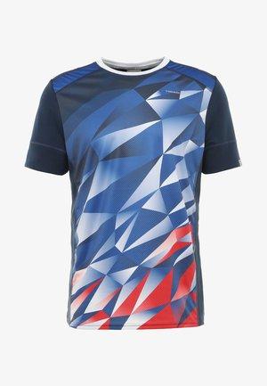 MEDLEY - T-shirt imprimé - royal blue/red