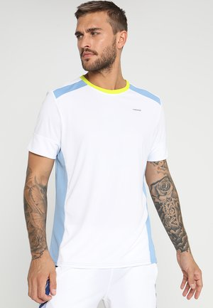 T-shirt imprimé - white/skyblue