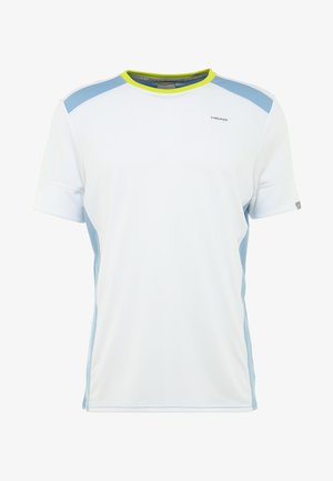T-shirt imprimé - white/skyblue