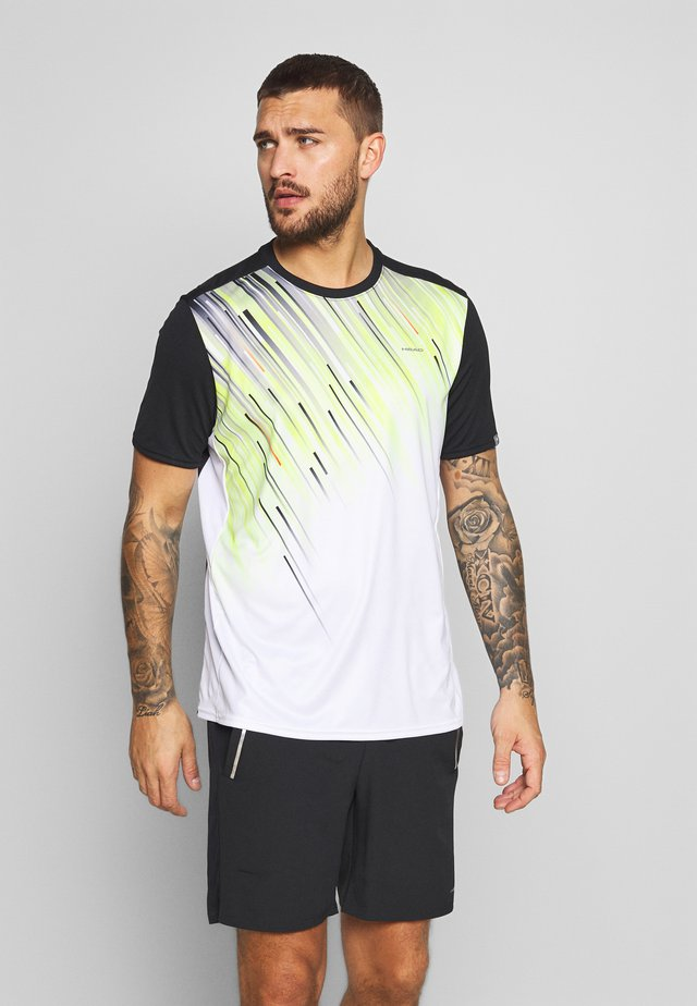 SLIDER - T-shirt print - black/yellow