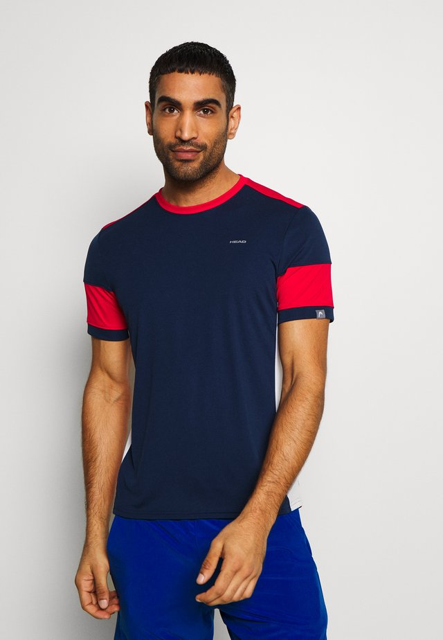 VOLLEY - T-shirt imprimé - darkblue/red