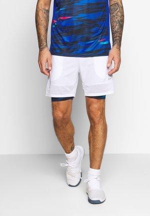 SLIDER - Träningsshorts - white/camo dark blue