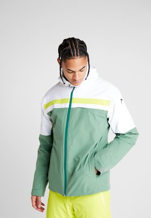 ALPINE JACKET  - Ski jacket - forest green/white