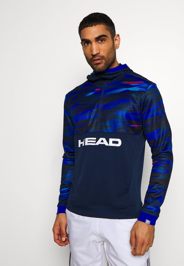 SLIDER HOODIE - T-shirt à manches longues - dark blue