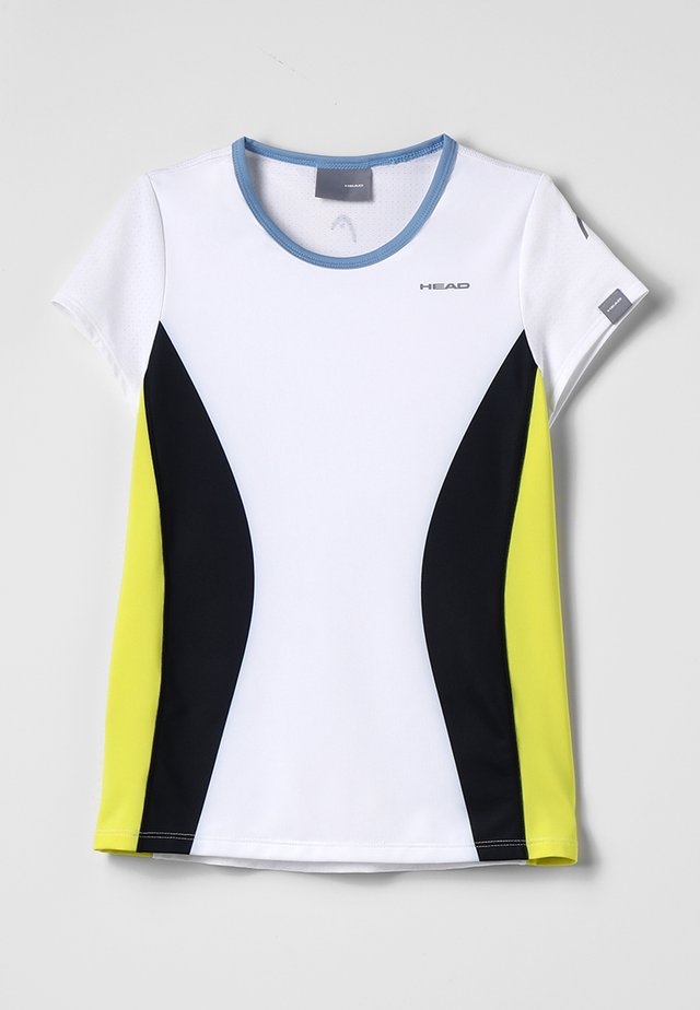 MIA  - T-shirt imprimé - white/yellow