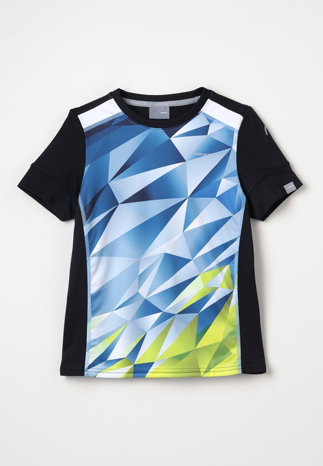MEDLEY - T-shirt print - sky blue/yellow