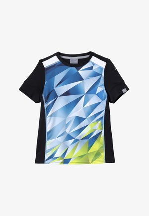 MEDLEY - Print T-shirt - sky blue/yellow
