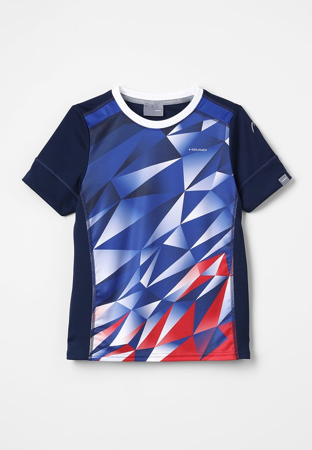 MEDLEY - T-shirt z nadrukiem - royal blue/red