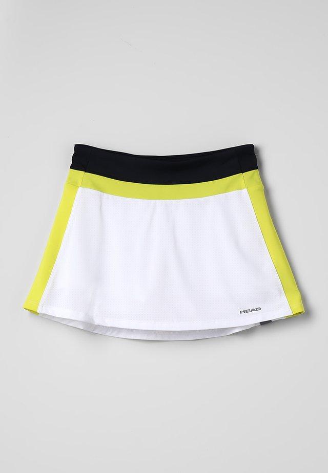 EMMA SKORT  - Sports skirt - white/yellow