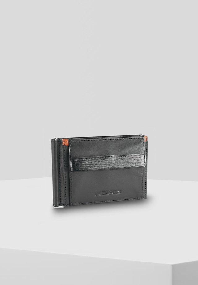 MIT DRUCKKNOPFVERSCHLUSS - Wallet - black