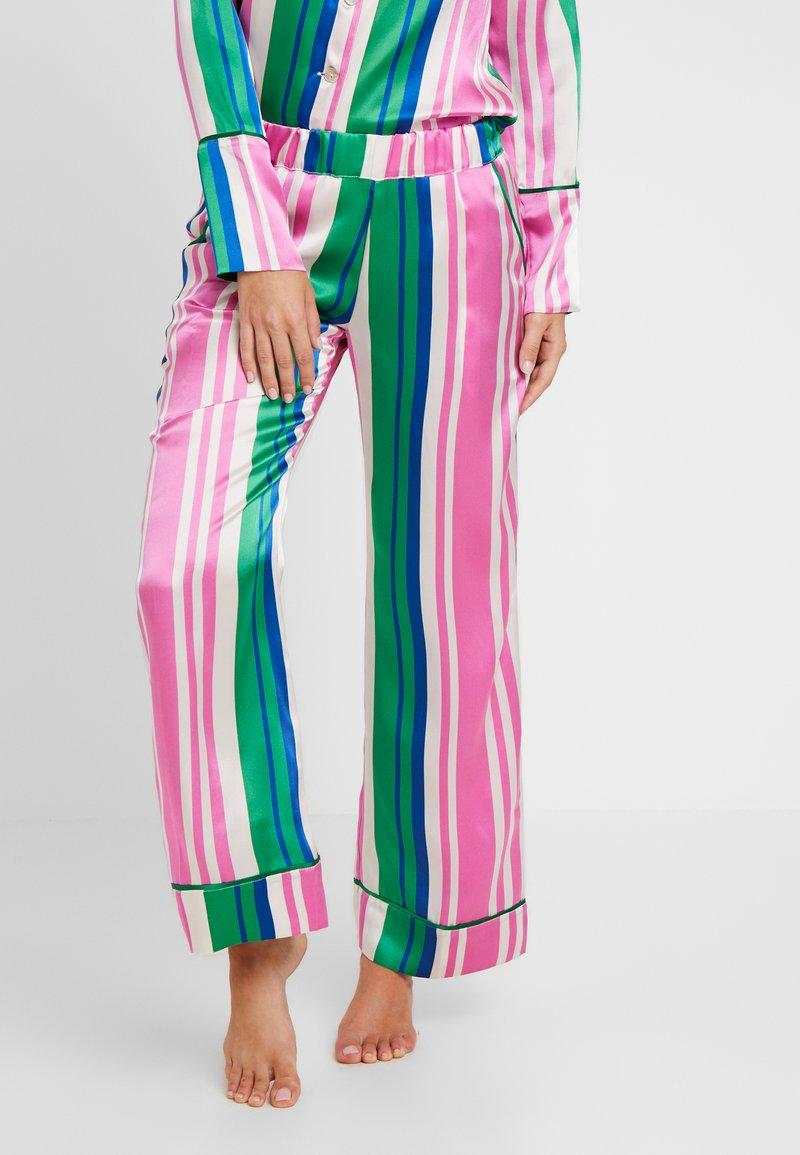 Hesper Fox - EVIE PRINT BOTTOMS - Pyjama bottoms - pink/dark blue/white