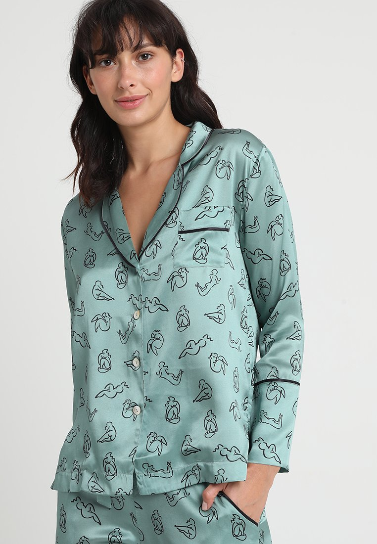 Hesper Fox - EVIE PRINT  - Pyjama top - green