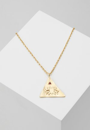 KRESSIDA PYRAMIS LARGE PENDANT - Ketting - gold-coloured/red
