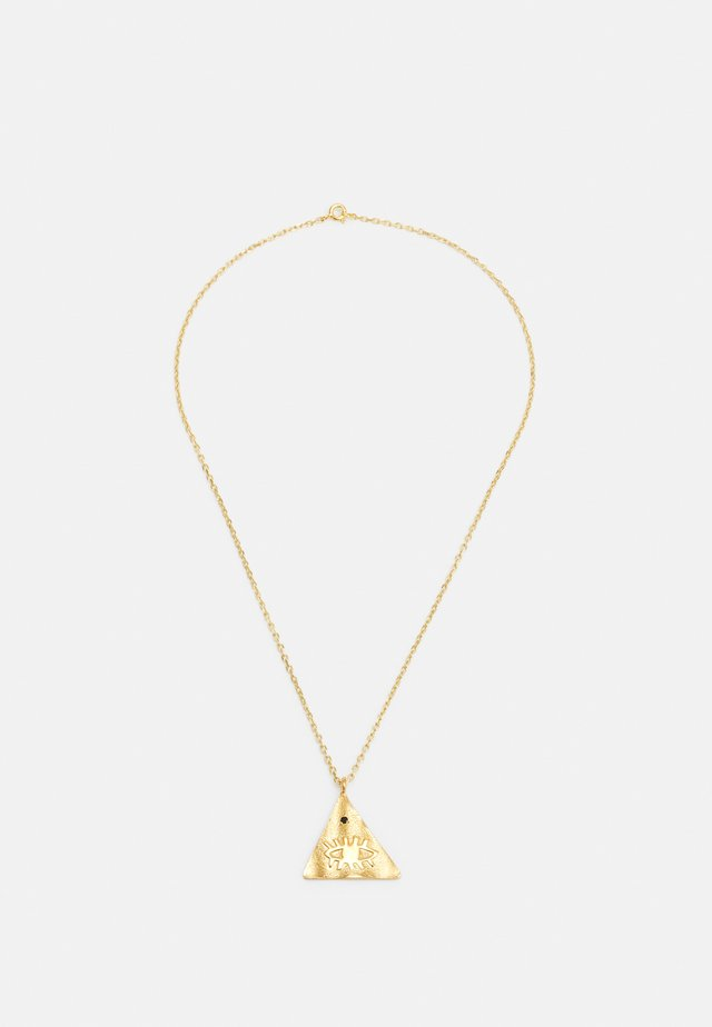 KRESSIDA PYRAMIS LARGE PENDANT - Ketting - gold-coloured/multi