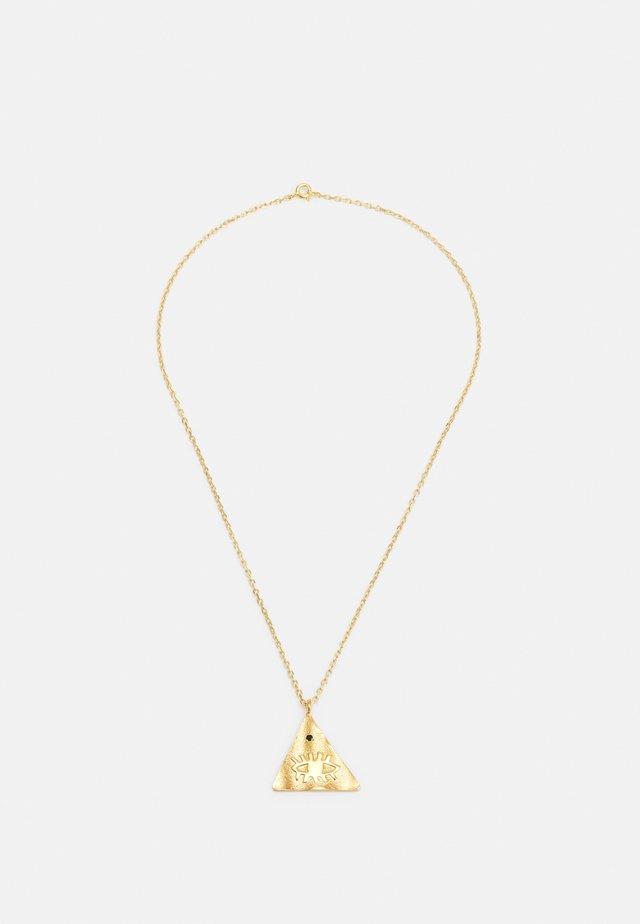 KRESSIDA PYRAMIS LARGE PENDANT - Halsband - gold-coloured/multi