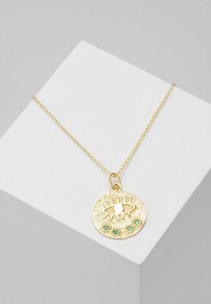 KRESSIDA SMALL PENDANT - Naszyjnik - gold-coloured/green