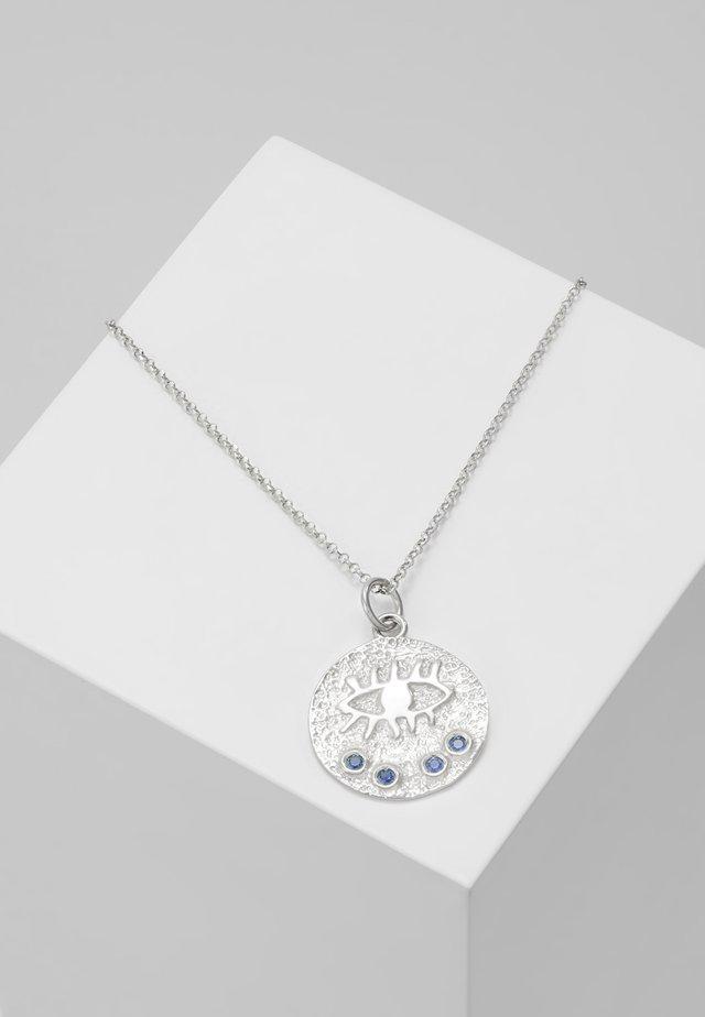 KRESSIDA SMALL PENDANT - Necklace - silver-coloured/blue