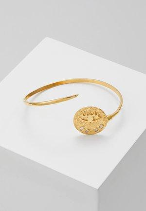 KRESSIDA THIN CUFF - Bracelet - gold/white