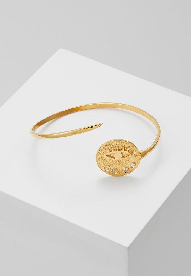 KRESSIDA THIN CUFF - Armband - gold/white