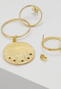 Hermina Athens - KRESSIDA INFINITY EARRINGS - Orecchini - gold-coloured/multicolored - 2