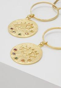 Hermina Athens - KRESSIDA INFINITY EARRINGS - Orecchini - gold-coloured/multicolored - 3