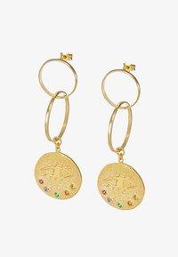 Hermina Athens - KRESSIDA INFINITY EARRINGS - Orecchini - gold-coloured/multicolored - 4