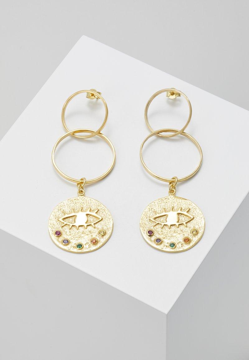 Hermina Athens - KRESSIDA INFINITY EARRINGS - Earrings - gold-coloured/multicolored