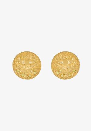 KRESSIDA SMALL PIN EARRINGS PAIR - Náušnice - gold-coloured/citrine