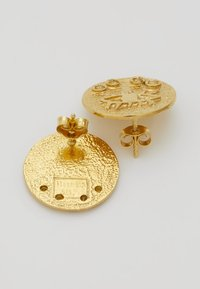 Hermina Athens - KRESSIDA SMALL PIN EARRINGS PAIR - Kolczyki - gold-coloured/citrine - 2
