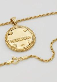 Hermina Athens - ILIOS CORD CHAIN PENDANT - Necklace - gold-coloured - 2