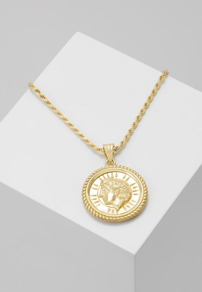 Hermina Athens - ILIOS CORD CHAIN PENDANT - Necklace - gold-coloured