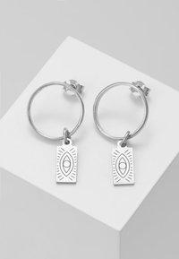 Hermina Athens - HERMINA TAG BAND EARRINGS - Earrings - silver - 0