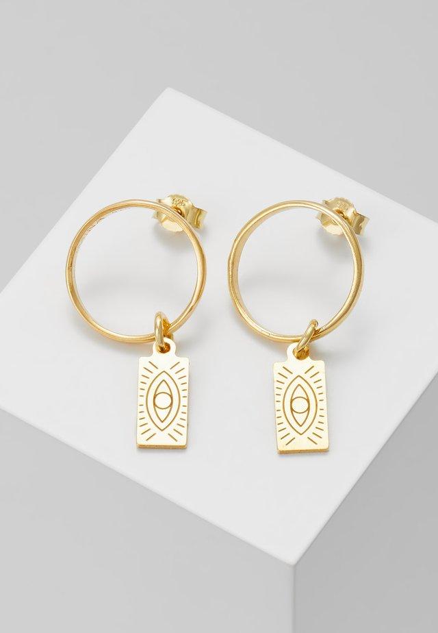 HERMINA TAG BAND EARRINGS - Örhänge - gold-coloured