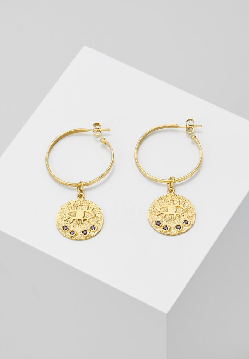 Hermina Athens - KRESSIDA HOOP EARRINGS - Kolczyki - gold-coloured