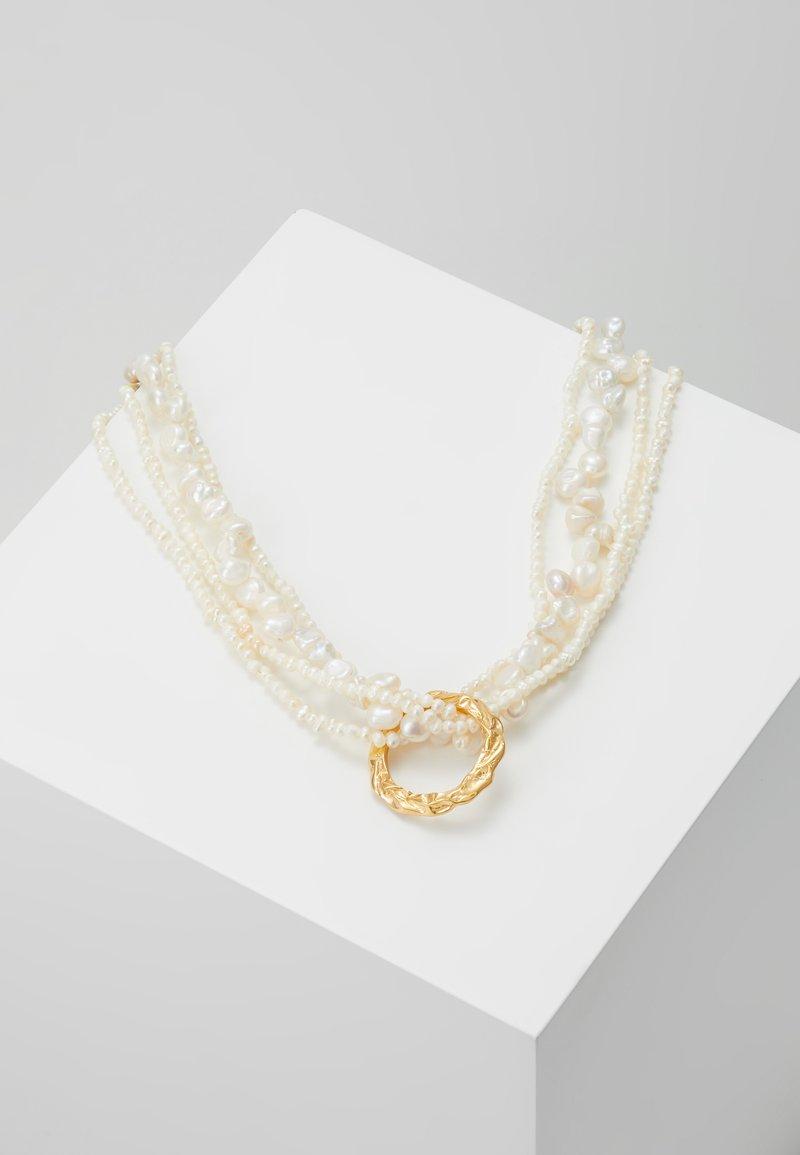 Hermina Athens - FULL MOON TANGLED NECKLACE - Ketting - white