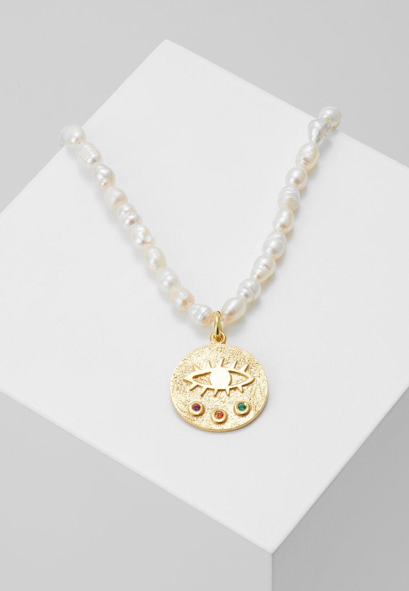 Hermina Athens - MINI KRESSIDA NECKLACE MULTI - Necklace - white