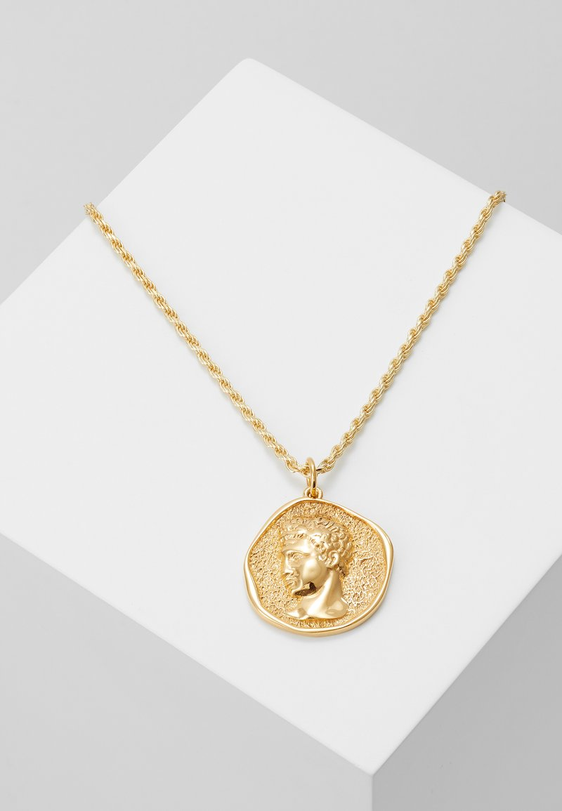 Hermina Athens - HERMIS MATTE LARGE - Necklace - gold-coloured